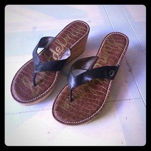 Sam Edelman Cork Wedge Sandals